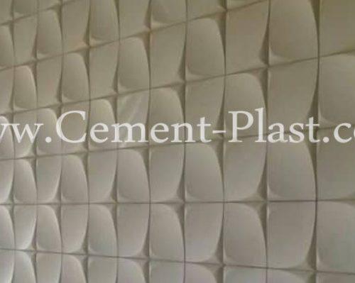 سنگ سه بعدی نما ساختمان سمنت پلاست. انواع سنگ مصنوعی؛